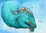 Battle-Scarred Sea Dragon by Senyadra