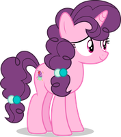 Mlp Fim Sugar Belle (happy) vector by luckreza8