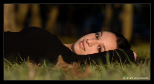 Lying in the Grass 2 by johnnyevil