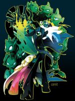 Chrysalis Queen of the changelings(t-shirt) by Cenit-v