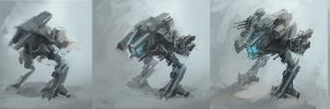 Mech - design process by alex-ichim