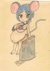 pregnant mouse-girl by JofDragon