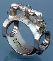 Sterling Silver Ring Pipe by Mikelm