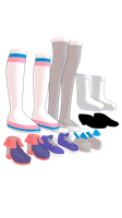 MMD Shoe pack 2 by mbarnesMMD