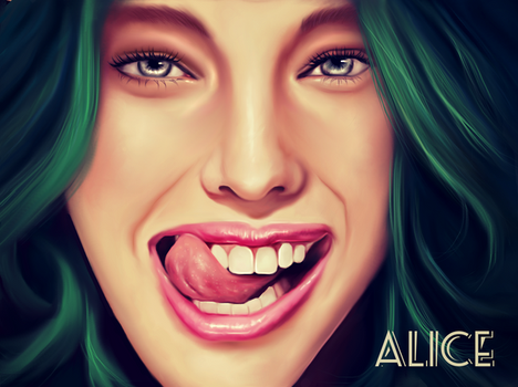 'ALICE' GOING CRAZY by Wehatearts