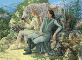 Glorfindel and Ecthelion by Mysilvergreen