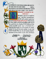 Award of Arms for Margaret of Carlisle by WorldsEdge