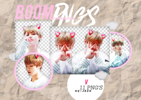 V PNG PACK #5| BTS by Upwishcolorssx
