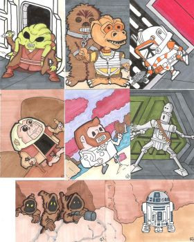 Random sketch cards... by houseofduck