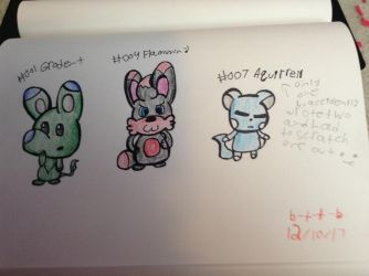 .:FAKEMON: Grodent, Flamunny and Aquirrel:. by bad-to-the-b0ne