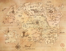 Map of Tamriel (Late-Middle Merethic Era) by iceflame542