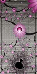 Mandelbrot In Silver and Pink by CoffeeToffeeSquirrel
