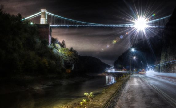 'Suspension Bridge over the night' by FunkyBah