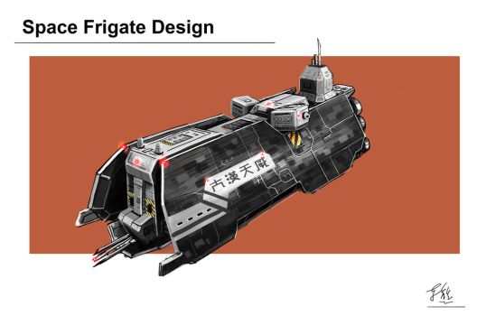 Space Frigate Design by JerryYeh712