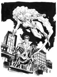 Starfire and NIghtwing by deankotz