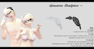 [MMD] Gemstone Headpiece DL ~ by o-DSV-o
