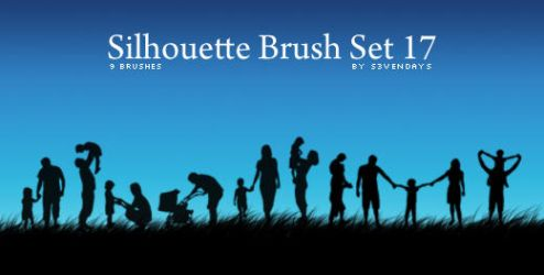 Silhouette Brush Set 17 by s3vendays