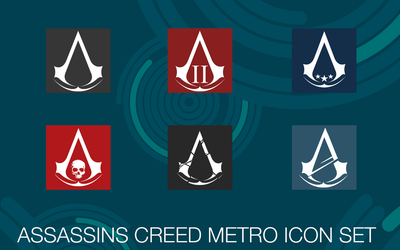 Assassins Creed Metro Icon Set by deezel26