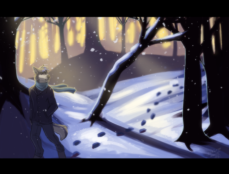 Winter Walk by Ink-aroo