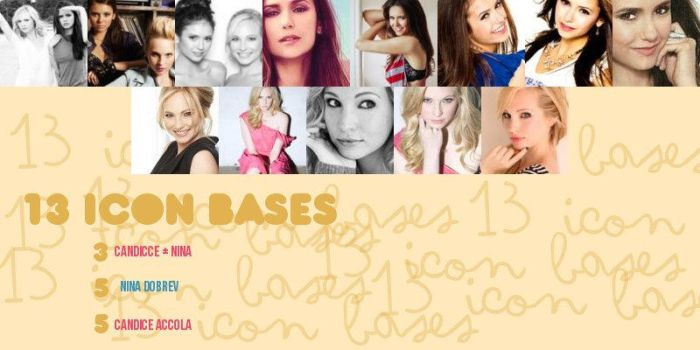 Pack Icons Nina y Candice by IsaDesings