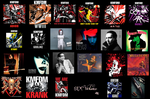 A wallpaper showign all my favorite albums, by Shelia455