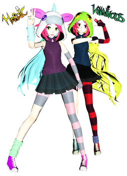 MMDXVillainous Demencia and Clementia DL by Amy-artist-killer