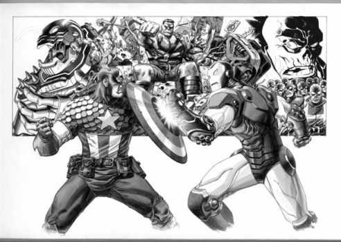 Marvel Box art in progress 4 by Devilpig