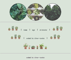 f2u aesthetic profile codes #1 - plants by dino--socks