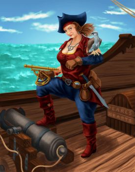 Captain Morganna by dragynsart