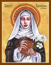 St. Catherine of Siena icon by Theophilia