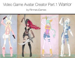 Video game avatar creator V.1 by Rinmaru