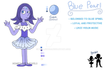 Blue Pearl Reference - SU OC by DualJewels