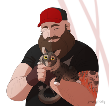 Cat Dad by FreakyVicky