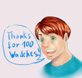 Thanks for 100 Watches!! by EisWolf010
