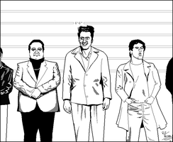 Kramer Lineup MS PAINT by CaptainRedblood