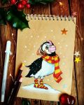 Winter Puffin by Lavenderwitch