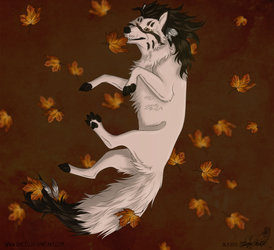 Catching leaves by Saiccu