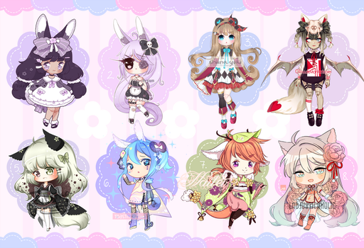 Set Price Adopts: Hanamimi and Heartdoll by ToasterKiwi