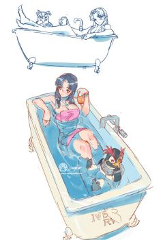 Misato in Tub by THEJETTYJETSHOW