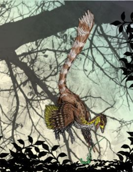 Anchiornis in the Thicket by Ashere