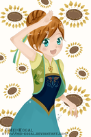 Frozen Fever Anna by mei-kogal