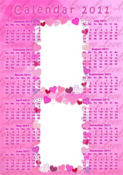 Love Theme Photo Calendar PSD by Anavrin2010