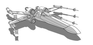 SW Vehicle - T-65 X-Wing by Obhan