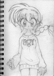 Too Small Sketchbook: Ranma Holiday Sweater by BA4ever