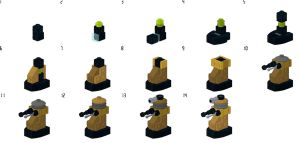 Lego Dalek Breakdown by Librarian-bot