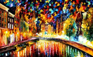 Coming Back.... Amsterdam by Leonid Afremov by Leonidafremov