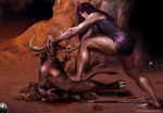 Commission_Minotaur and the Queen by bodyscissorfan
