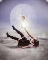 The girl on clouds by erkanozan