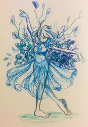 Blue Pearl (inktober day 11) by StarGazingHipster