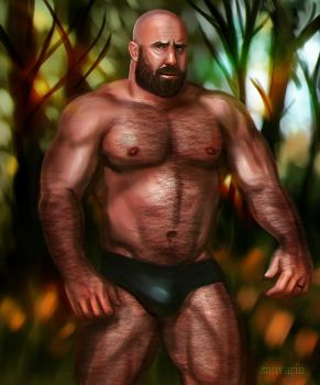 Bear in the Woods by ZanVarin